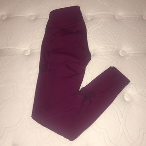 Raspberry colored old navy active go dry leggings